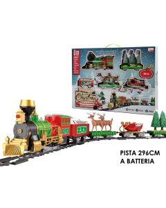 General Trade Pista Treno Natalizio con Luci e Suoni 17 Pezzi 107004