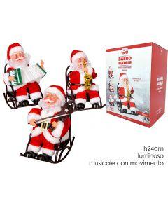 Babbo Natale Seduto 3 Assortiti