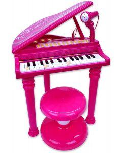 Pianoforte a Coda C/Gambe e Sgabello Rosa - Bontempi 03072