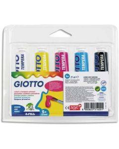 Fila Giotto Colori a Tempera 5 Tubi 21ML Colori Assortiti