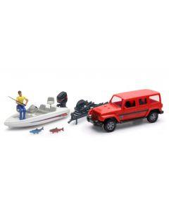 Auto 1:18 Jeep Sahara Fishing Boat