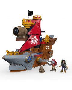 Imaginext- Nave dei Pirati a Forma di Squalo con Mini Personaggi e Accessori