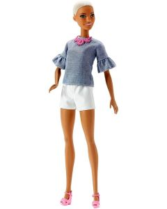 Barbie- Fashionistas Bambola in Top in Cambrì - Mattel FBR37