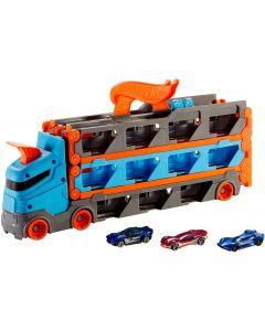 2 in1 Camion Trasportatore e Pista con 3 Macchinine - Hot Wheels GVG37