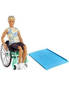 Barbie Ken Su Sedia A Rotelle - Mattel GWX93