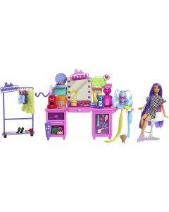 Barbie -Bambola e Playset con Bambola Esclusiva, Cucciolo, Toeletta e Oltre 45 Accessori, GYJ70