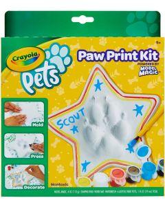 Crayola- Pets-Set Crea, trasforma l'impronta della zampina del Tuo Animale Domestico in Un Oggetto Decorativo, Stella