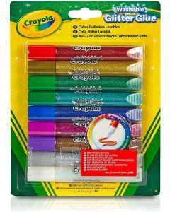9 Penne Con Colla Glitterata Lavabile - Crayola 693527
