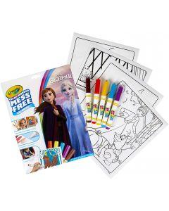 Crayola Color Wonder -  Set con 18 Pagine da colorare e 5 Pennarelli, soggetto Frozen