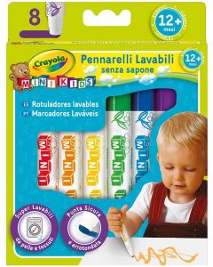 Pennarelli Mini Kids Inchiostro Super Lavabile - Crayola 8324