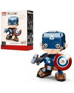 Capitan America con Scudo Qbricks Hero Robot Set Costruzioni 179pz Sluban