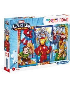 Puzzle Marvel Super Hero Avengers 104 Maxi Pezzi - Clementoni 23746