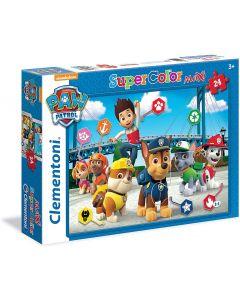 Paw Patrol Supercolor Puzzle 24 Pezzi - Clementoni 24049