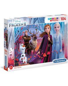 Puzzle Disney Frozen 2-104 Pezzi - Clementoni 27274