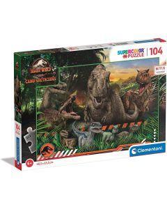 Clementoni Supercolor Jurassic World Camp Cretaceous 104 pz