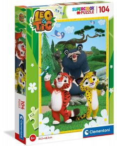 Puzzle Supercolor Leo & Tig 104 pezzi - Clementoni 27547