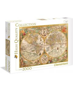 Collection Puzzle - Ancient Map - 2000 Pezzi - Clementoni 32557