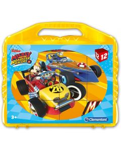 Mickey Roadster Racers Puzzle Cubi 12 Pezzi - Clementoni 41183