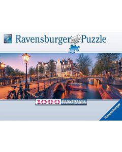 Ravensburger Puzzle, Puzzle 1000 Pezzi, Luci ad Amsterdam