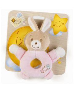 Plush & Company Babycare Anello Sonaglino Coniglietta Rosa