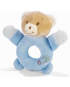 Plush & Company Babycare Anello Sonaglino Orsetto Azzurro
