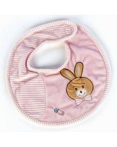 Plush & Company Babycare Bavaglino Coniglietta Rosa