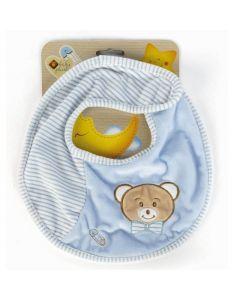 Plush & Company Babycare Bavaglino Orsetto Azzurro