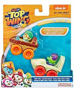Top Wing Pack 2 Veicoli Timmy Turtle And Rocco Racers - Hasbro E5282