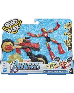 Avengers Bend and Flex Veicolo Snodabile Iron Man Hasbro F02445L0