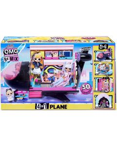 LOL Surprise OMG Remix Party Plane 4 in 1 - Giochi Preziosi LLX03000