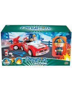 Pompieri con Personaggio e Accessori Di Pinypon Action 2 - Giochi Preziosi PNC03000