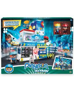 Stazione di Polizia con 2 Personaggi Mix&Match e Accessori Pinypon Action  - Giochi Preziosi PNC06000