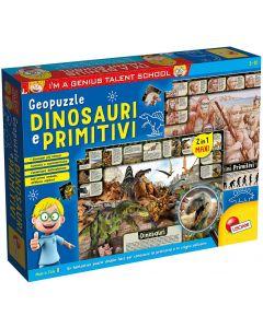 I'm A Genius Geopuzzle Dinosauri E Primitivi - Lisciani 80755
