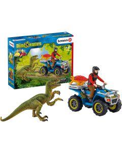 Fuga sul Quad con Dinosauri - Schleich 41466