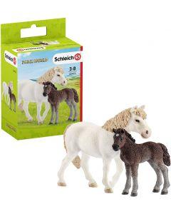 Giumenta Pony e Puledro - Schleich 42423