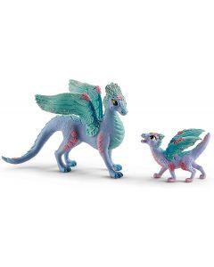 SCHLEICH Drago Fiore con baby