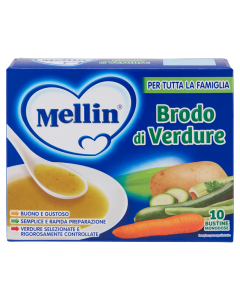 Mellin Brodo di Verdure - 10 bustine da 8gr