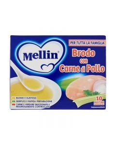 Mellin Brodo con Carne di Pollo - 10 Bustine da 5gr