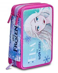 Astuccio Scuola 3 Zip Seven Frozen Spirit Of Adventure