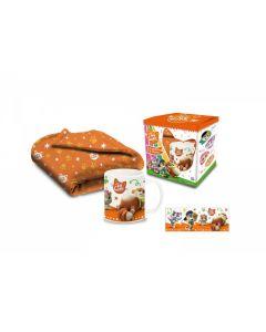 Tazza in Ceramica per Colazione + Coperta 44 Gatti