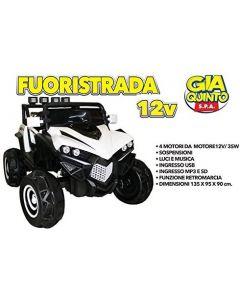 Auto Elettrica Fuoristrada Bianco 12V - GVC5370