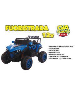 Auto Elettrica Maxi Fuoristrada 12V Blu - GVC5294