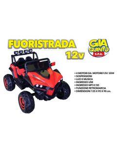 Auto Elettrica Fuoristrada Rosso 12V - GVC5371