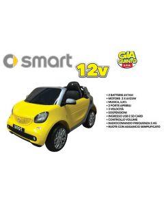 Auto Elettrica Smart 12 V Gialla - GVC5324