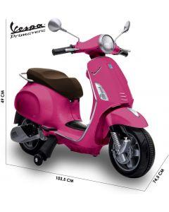 Biemme Moto Elettrica Vespa Piaggio Pirmavera Rosa 12V