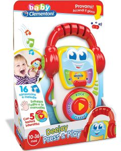 Clementoni 14982 - Baby Clem Dee Jay Press & Play