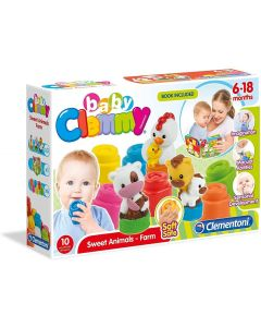 Clementoni 171743 - Baby Clemmy Mamma e Cuccioli della Fattoria