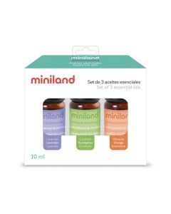 Miniland - Set 3 oli essenziali per umidificatore e diffusore