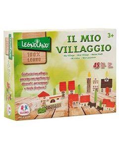 Legnoland - Villaggio in legno 45 pezzi - Globo 36576