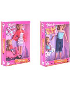 Fashion Doll W/Baby/Bike/Acc. - Globo 39085